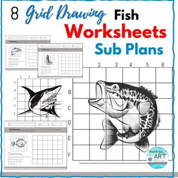 Middle or High School Art Grid Drawing Worksheets