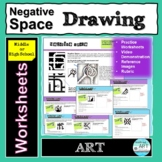 Negative Space Drawing Worksheets Middle or High School Art