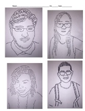 Middle or High School Art Project: Micrographic Self Portrait