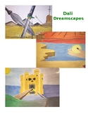 Middle or High School Art Project: Surrealist Dreamscape Watercolor Painting