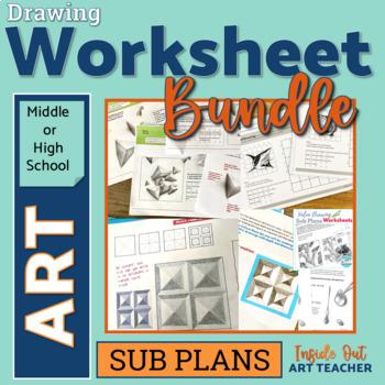 Middle or High School Art Worksheet Bundle