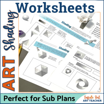 Middle or High School Art Worksheets: Introduction to shading