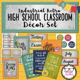 Middle or High School Classroom Decor Industrial Retro Brights Theme