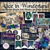 Middle or High School Classroom Decor - Alice in Wonderland Theme