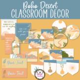Middle or High School Classroom Decor - Boho Desert Theme