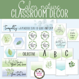 Middle or High School Classroom Decor - Calm Nature Theme