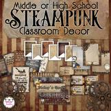 Middle or High School Classroom Decor - Steampunk Theme