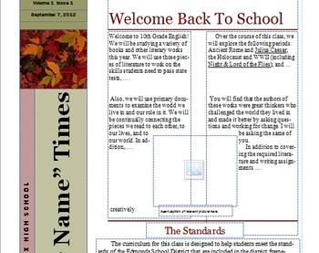 Middle or High School English Syllabus