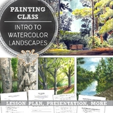 Middle or High School In-Depth Watercolor Lesson: Painting Watercolor Landscapes