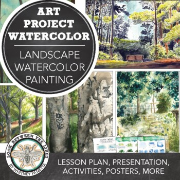 Watercolor Painting Landscapes, Visual Art for 8th Grade or High School Art