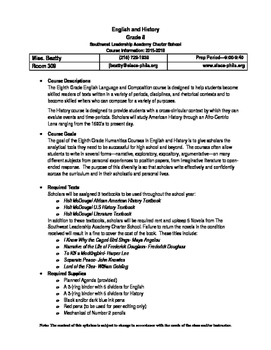 Middle or High School Syllabus