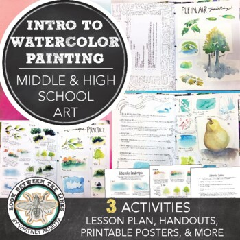 Middle or High School Visual Art Lesson: Introduction to Watercolor Techniques