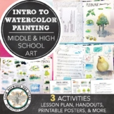 Watercolor Painting Techniques Introduction for Middle or High School Visual Art