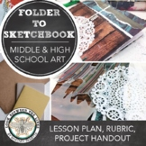 Middle or High School Visual Art Project: Make Your Own Sketchbook on a Budget