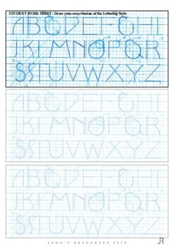 Middle / Senior Instant lesson -  Designer Style Lettering: Raising the X Height