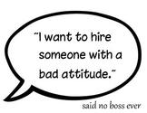 Middle school/ High school Classroom Poster- Attitude