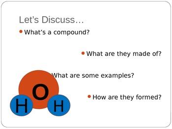 Middle school basic chemistry- COMPOUNDS presenation