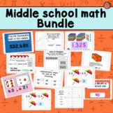 Middle school math   Boom Cards bundle