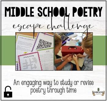 Middle school poetry breakout activity