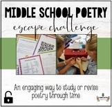 MIDDLE SCHOOL POETRY ESCAPE CHALLENGE