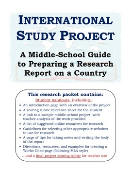 research assignments for middle school