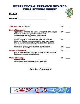 Middle-school research project - student guidelines
