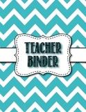 Middle/High School Blue Chevron Theme Teacher Binder - Editable