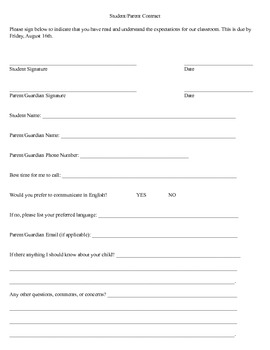 Middle/High School English Syllabus