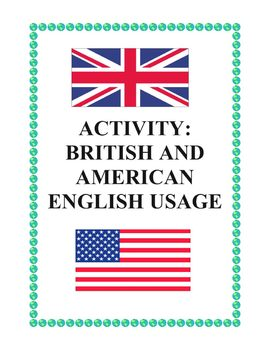 Middle/High School Fun Printable: British and American English