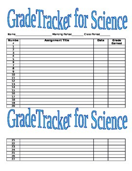 Middle/High School Grade Tracker