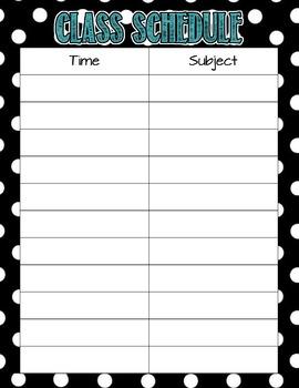Middle/High School Polka Dot Theme Teacher Binder - Editable