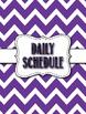 Middle/High School Purple Chevron Theme Teacher Binder - Editable