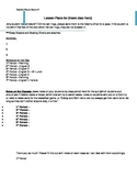 Middle/High School Sub Lesson Plan Template