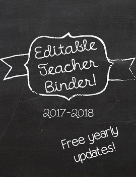 Middle/High School Teacher Binder