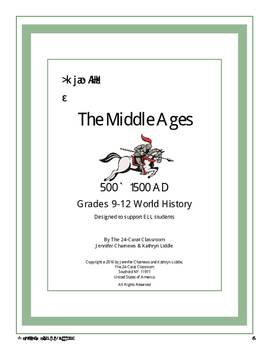 Middles Ages Lesson Plan to Support ELL Learners 9th and 10th