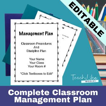 Midgley's Classroom Management Plan