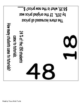Midle School Math Station: Converting Rational Numbers floor puzzle