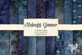 Midnight Glimmer Digital Paper