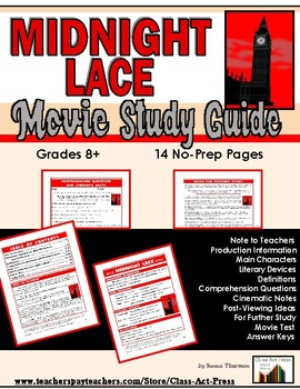 Midnight Lace: The Study Guide for the Film (13 Pages, Answer Key Included, $10)