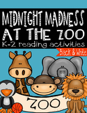 Midnight Madness at the Zoo Activities (B&W)