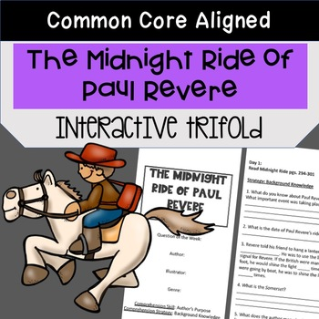 Midnight Ride of Paul Revere Trifold  (5th Grade Reading Street 2011 Edition)