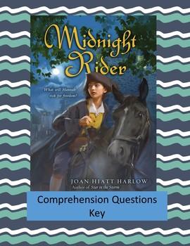 Midnight Rider by Joan Hiatt Harlow Comprehension Questions