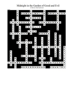 Midnight in the Garden of Good and Evil - Crossword Puzzle