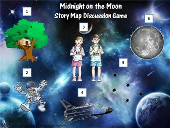Midnight on the Moon (Book #8) Story Map Discussion Game