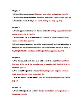 Midnight on the Moon Novel Study Questions