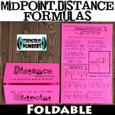 Midpoint Distance Formula Foldable Notes Interactive Notebook