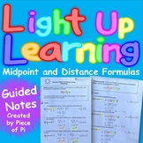 Midpoint Distance Formula Guided Notes Interactive Notebook with Highlighting