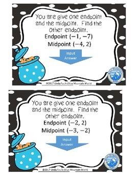 Midpoint Formula Boom Cards--Digital Task Cards