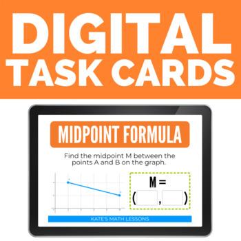 Midpoint Formula Boom Cards (digital task cards)