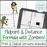 Midpoint & Distance Formula Activity - PDF & Digital
